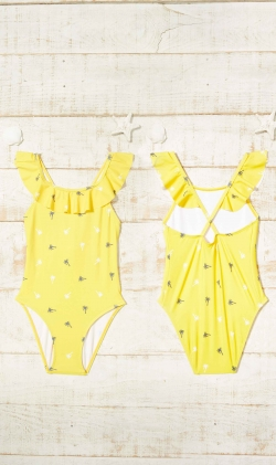 Bañador Palm mustard