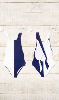 Bañador Azul/Blanco Double