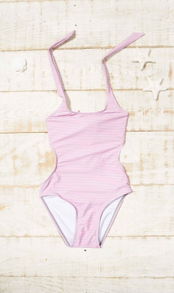 Trikini Plum stripes
