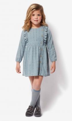 Vestido Azul print