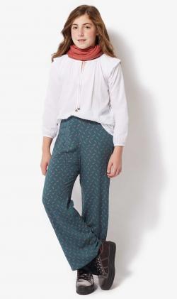 Pantalon azul geo