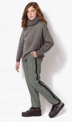 Pantalon verde stripes
