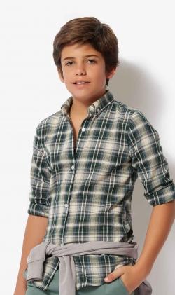 Camisa tartan verde
