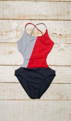 Trikini Rojo tricolor