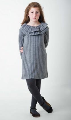 Vestido gris Stripes