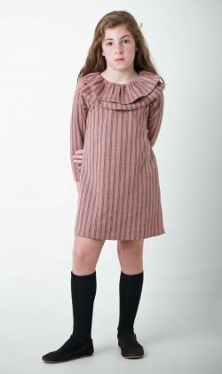 Vestido nude stripes